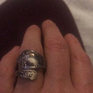 Antique Sterling Silver Spoon Ring...
